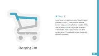 Shopping Cart Puzzle Shapes for PPT