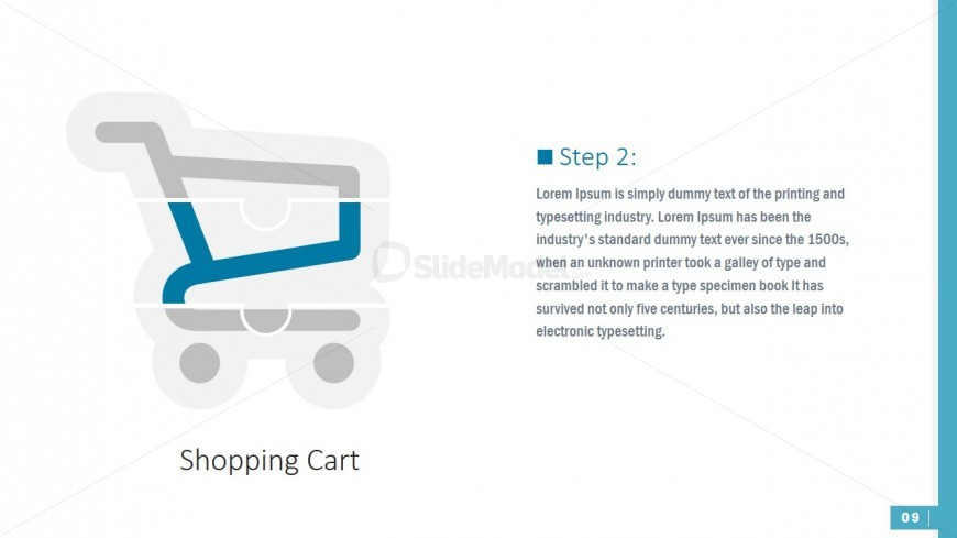 PowerPoint Shapes of Jigsaw Puzzle Shopping Cart