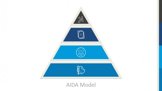 Marketing Pyramid AIDA Model for PowerPoint