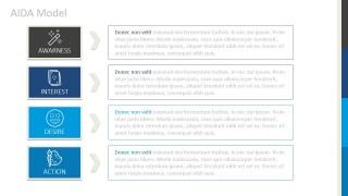 PPT Matrix Design for Marketing AIDA Model