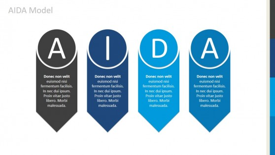 AIDA Arrows Diagram for PowerPoint