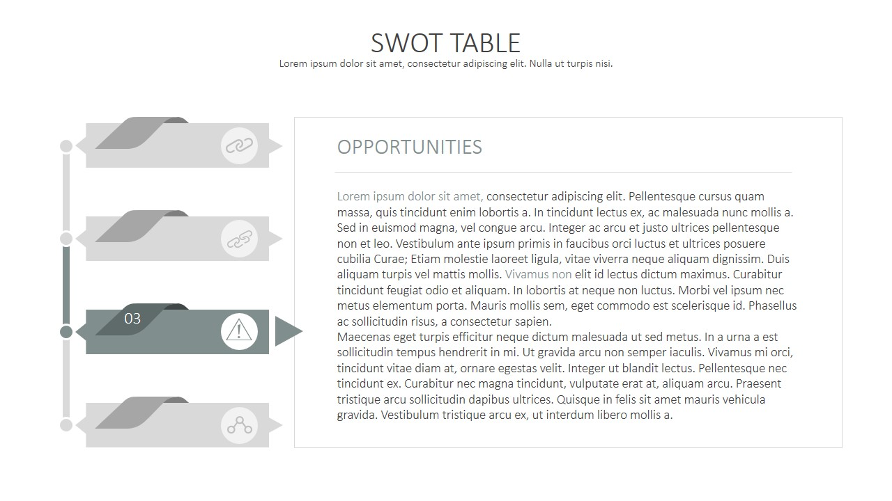 ... SWOT Analysis PowerPoint Template ...  Example Swot Analysis Paper