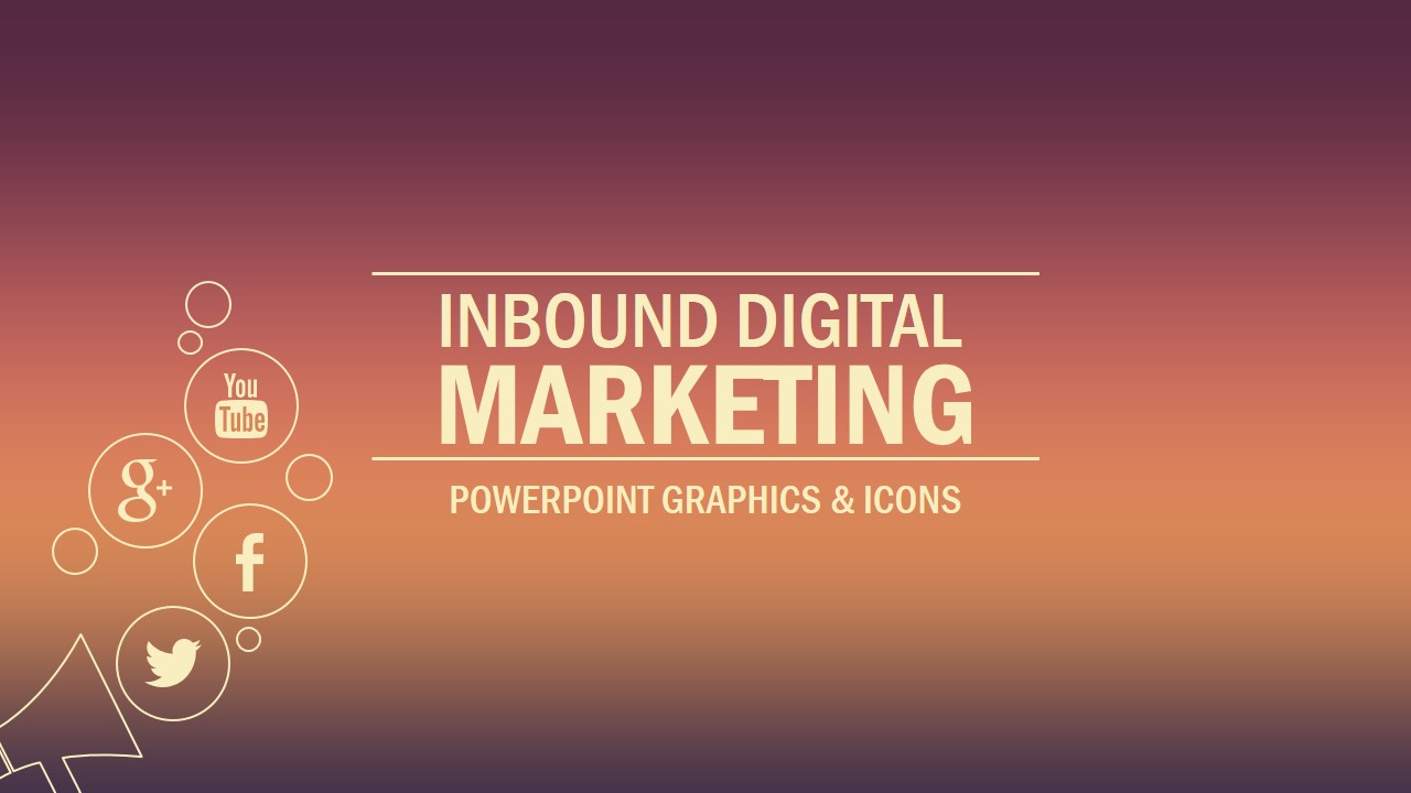 inbound marketing powerpoint template - slidemodel, Modern powerpoint
