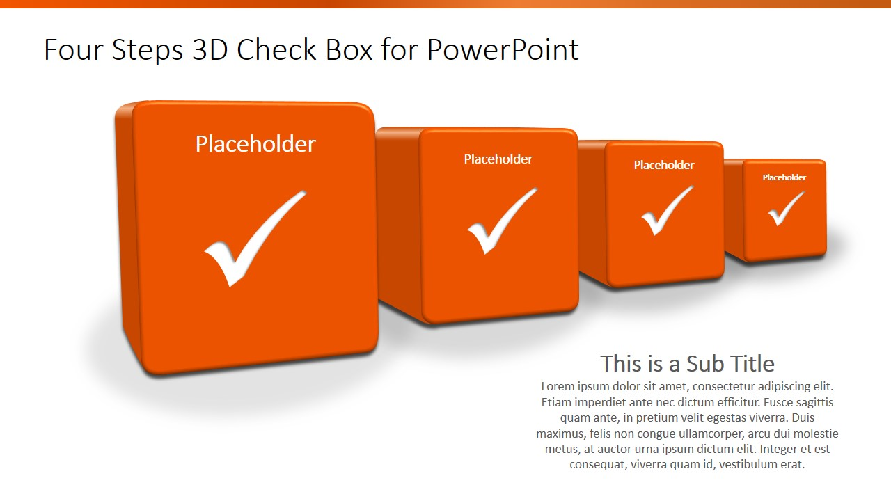 4 steps 3d checkbox powerpoint template slidemodel ppt shapes 3d boxes ppt template maxwellsz