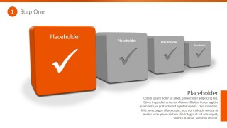 PPT Template 3D Checkbox Shapes