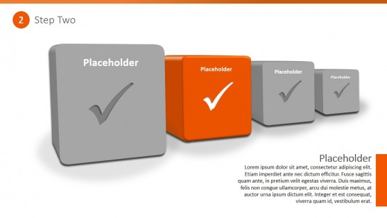 PowerPoint Template Four Steps Checklist