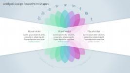 PowerPoint Template Transparent Petals Diagram