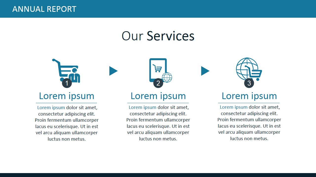 PPT Template for Our Services Concept