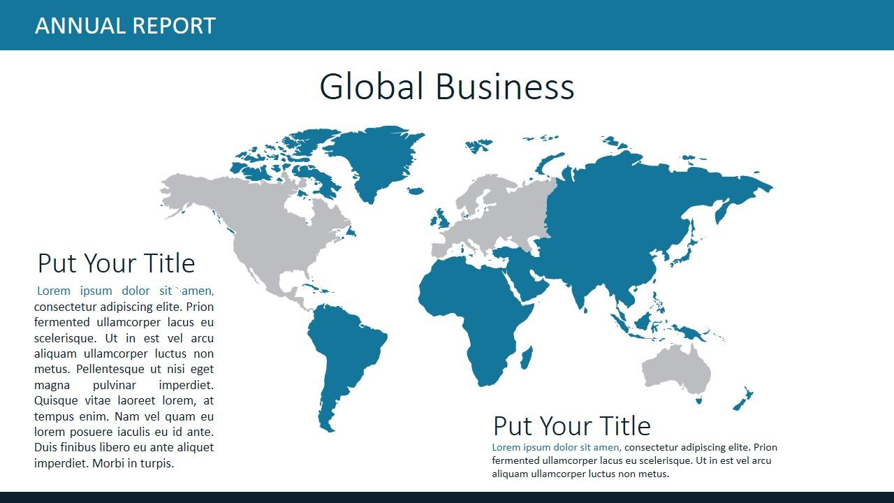 PPT World Map Global Market
