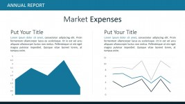 Market Expenses Data Driven Slide Design