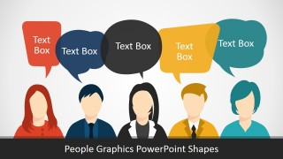 PPT Template People Silhouettes
