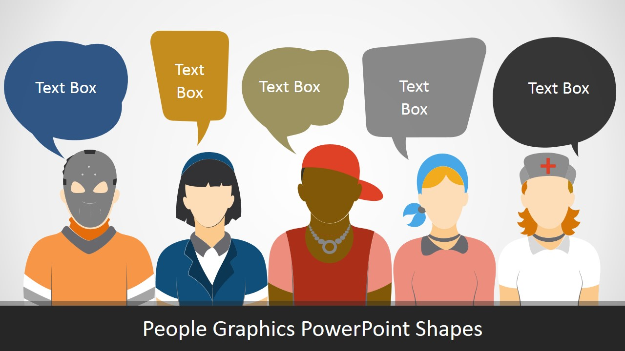 Editable PowerPoint People Graphics Cliapart