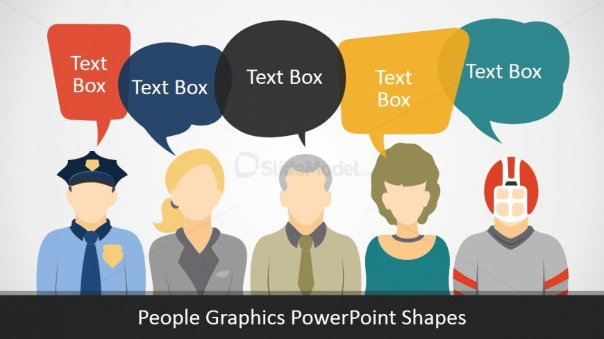 PPT Template of People in Different Roles