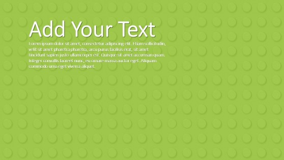 Lego Toys Background Green for PowerPoint