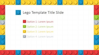 PPT Template Lego Theme Options Menu