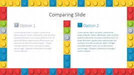 Two Columns Layout Lego Theme for PowerPoint
