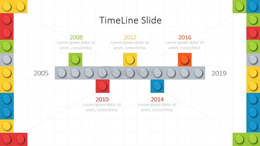 PPT Timeline Lego Bricks
