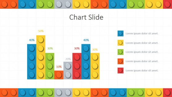 Bar Chart Lego Theme for PowerPoint