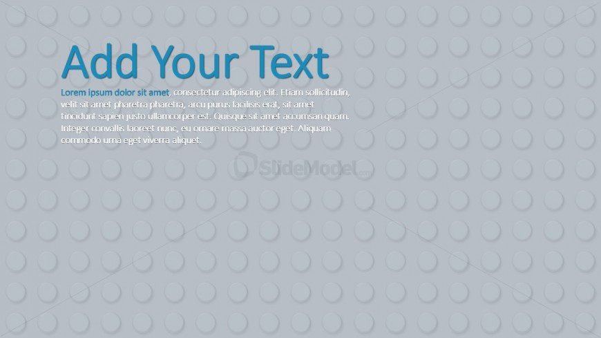 Grey Background Theme Lego For Powerpoint Slidemodel
