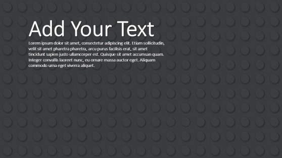 Black Background Lego Theme for PowerPoint