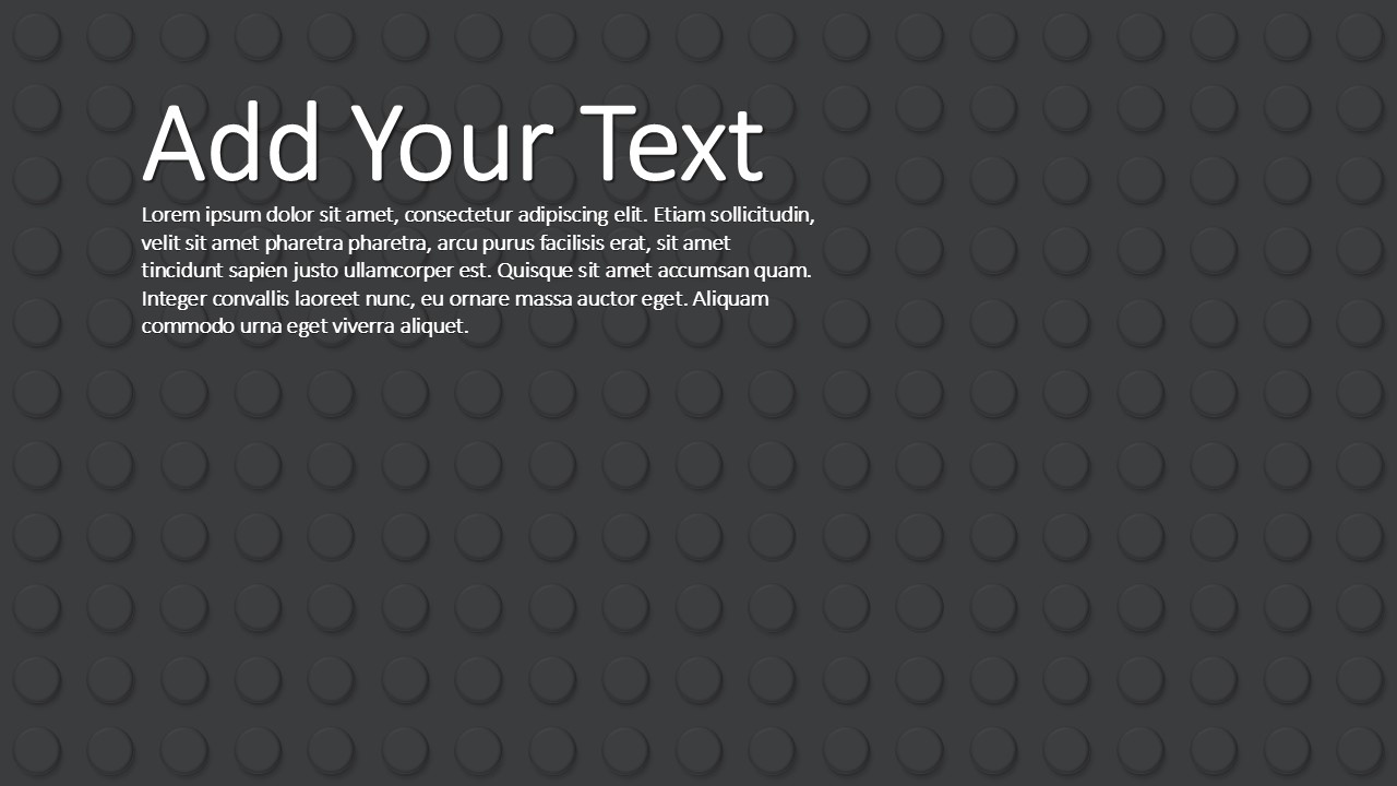 PPT Template Black Background Lego Theme