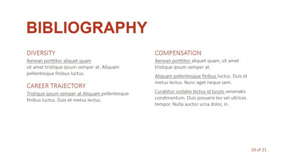 Bibliography Slide Design for PowerPoint