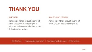 PPT Thank You Page Template Slide