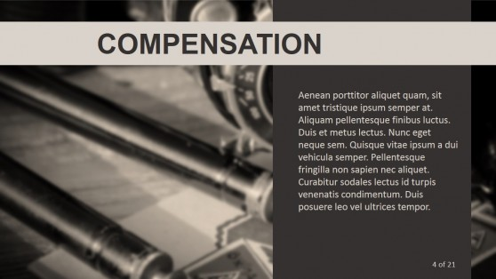 Compensation Metaphor Photo Background for PowerPoint