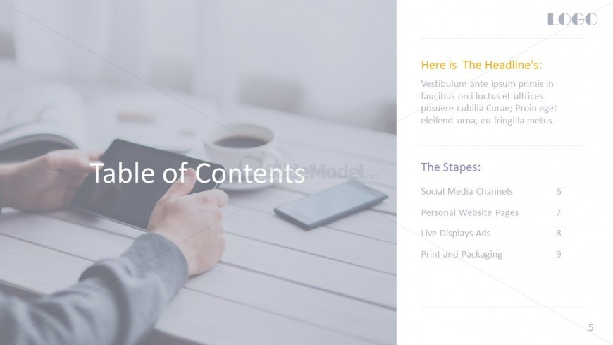 PowerPoint Heading Templates For Digital Marketing