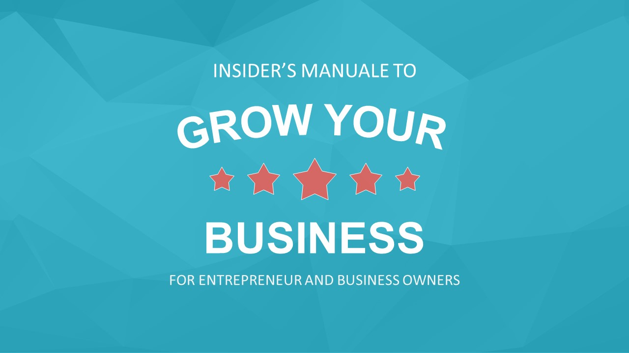 Grow Your Business PowerPoint Cover Slide