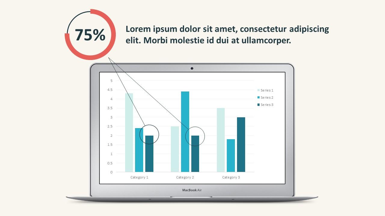 Business Sales Flat Chart PowerPoint Templates