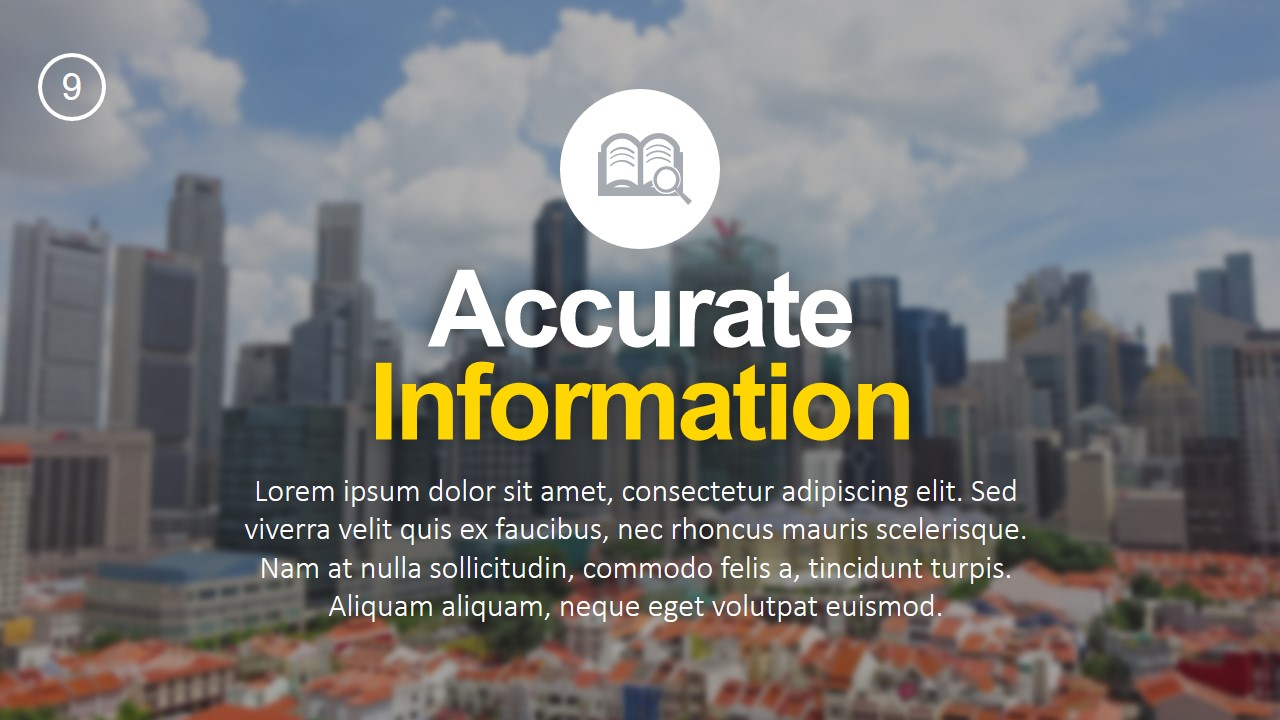 PPT Template Accurate Information