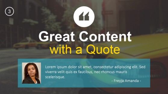 Quotable Slide Design for PowerPoint