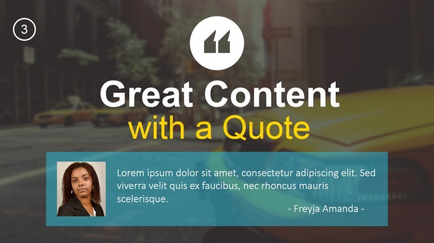 PPT Template Quotable Content
