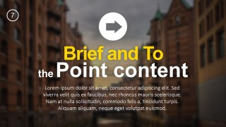 PPT Template To the Point Title