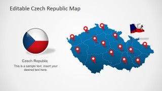 PPT Map of Czech Republic