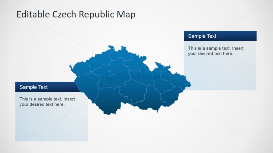 PPT Map of Czech Republic Editable