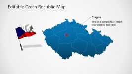 Flag Location Icon of Czech Republic PowerPoint Map