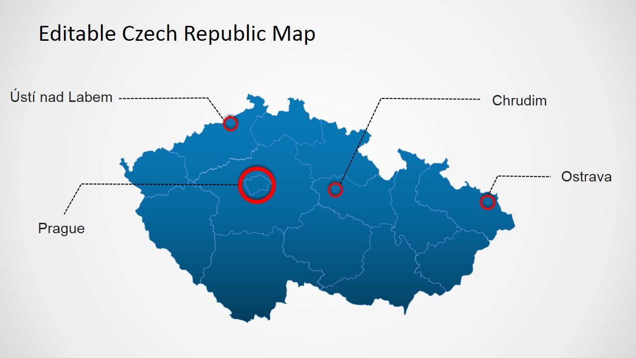 czech republic powerpoint map