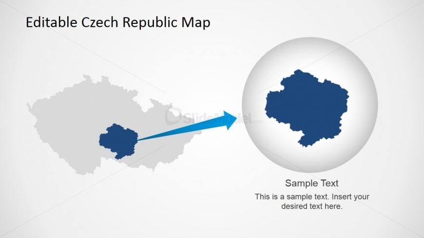 Map of Czech Republic in PPT