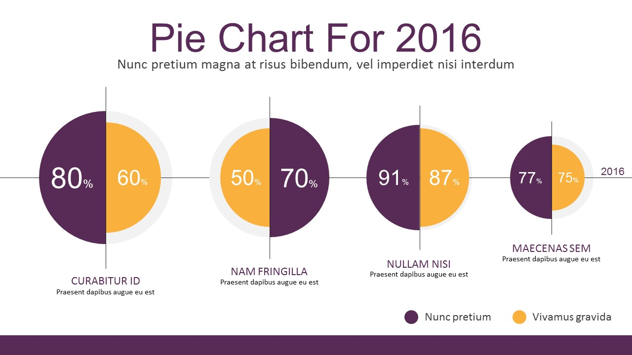 Flat Infographic Charting Elements For Powerpoint Pie Chart Slidemodel