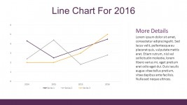 Line Chart Flat Infographic Elements For PowerPoint