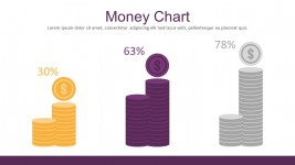 Money Chart Flat Infographic Elements For PowerPoint
