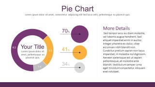 Flat Infographic PowerPoint Template With Pie Chart Design