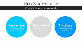 Three Levels Marketing Process PowerPoint Template