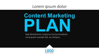 Business Content Marketing Plan Flat PowerPoint