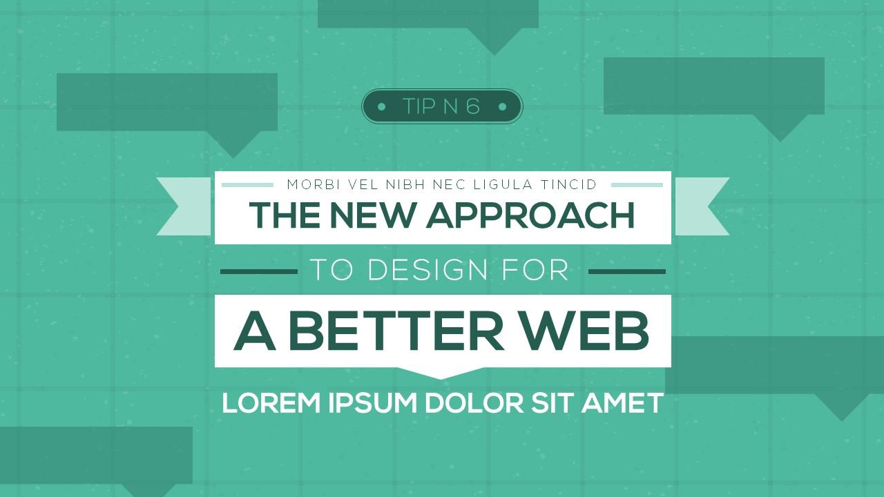 flat design banners powerpoint templates