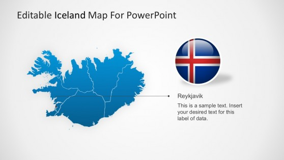 Iceland Capital Region Map PowerPoint Template