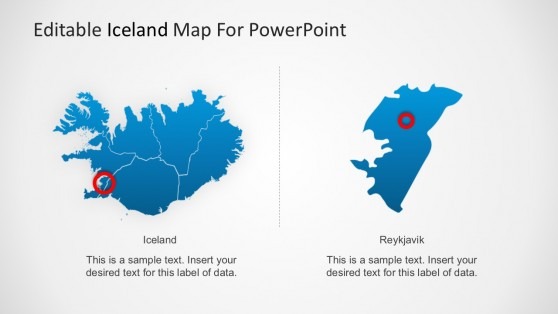 State PowerPoint Map For Iceland Template