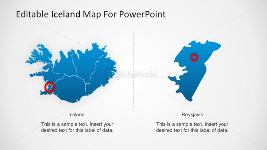 Download Editable Iceland Country Map